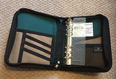 Franklin Covey Zip 6 Ring Compact Plannerbinder - Khakisherwood Green Fabric