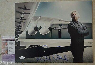 Richard Branson Signed 11X14 Photo W  Jsa Coa  L51437   Proof