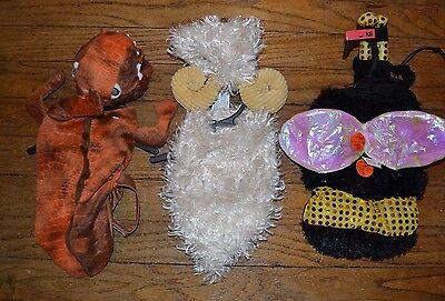 Plush Dog Halloween Costume Long Horn Sheep Ram, FLASHING LIGHTS Bee, Dinosaur
