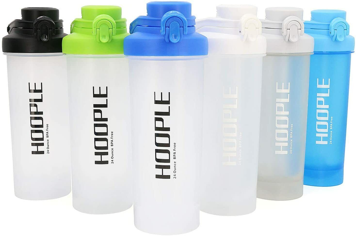 Protein Shaker Bottle Gym Sports Water Smoothie Mixer Cups Blending Ball 24 oz
