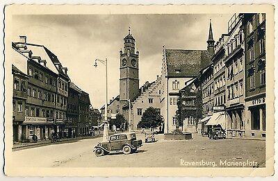 RAVENSBURG Marienplatz / OMIRA / Autos / Specht & Bierer * Foto-AK um 1950