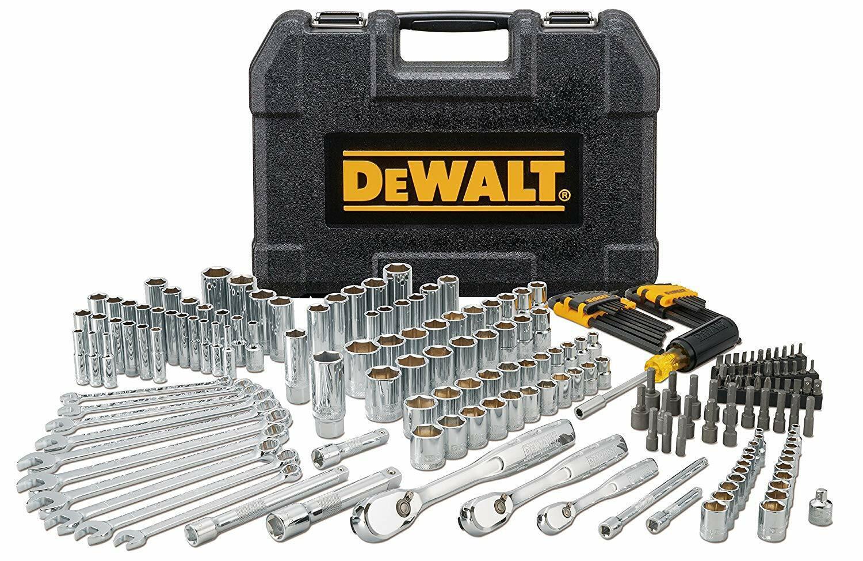 205-Piece DEWALT Mechanics Tool Set, 72 Tooth Ratchet, Socke