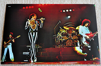 Wishbone Ash poster '72 Classic Line Up Argus Andy Powell on Stage poster Rare!