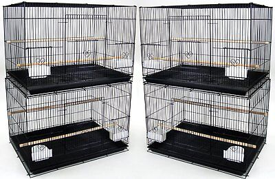 New Lot of 4 Large Aviary Breeding Bird Cages 30x18x18- 2473 Black-540