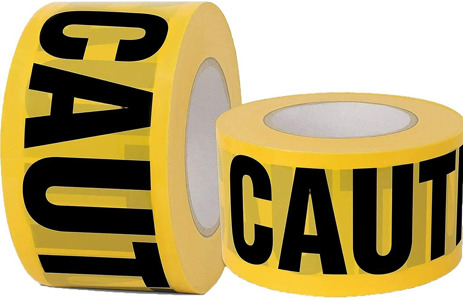 CAUTION WARNING 3″ x 330′ Barricade Ribbon Bright Yellow Safety Tape (4 Rolls) Business & Industrial