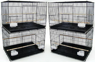 "New Lot of 4 Large Aviary Finch Breeder Bird Breeding Cages 30x18x18""H Black 120"