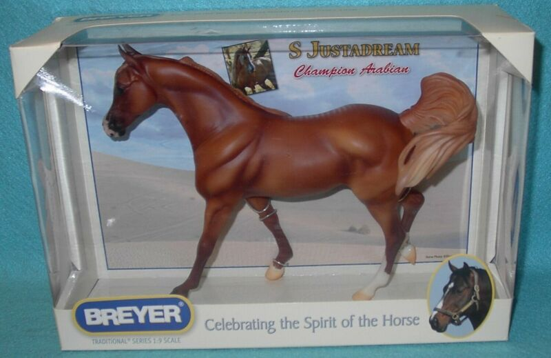 "BREYER TRADITIONAL GORGEOUS CHESTNUT ""S JUSTADREAM"" ARABIAN MARE #706 NEW 09-11"