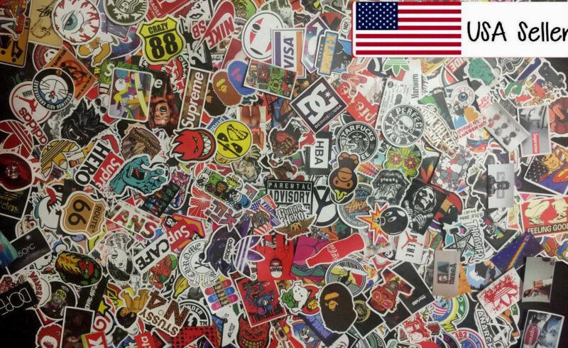 200 Random Skateboard Stickers Vinyl Laptop Luggage Decals Dope Sticker Lot Mix