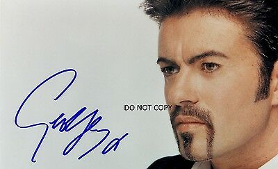 GEORGE MICHAEL 8X10 AUTHENTIC IN PERSON SIGNED AUTOGRAPH REPRINT PHOTO RP