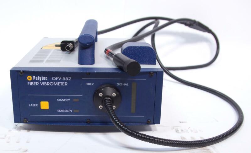 Polytec OFV-552 Fiber-Optic Sensor Head For Laser Doppler Vibrometer