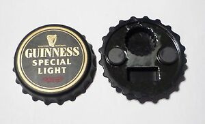 GUINNESS-SPECIAL-LIGHT-Black-Cap-Design-BOTTLE-OPENER-FRIDGE-MAGNET-90s-3
