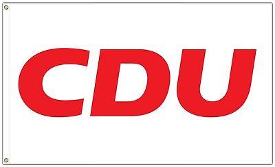 Christliche Partei (CDU Fahne 150 x 90 cm Partei Flagge Christlich Demokratische Union 1980 Replika)