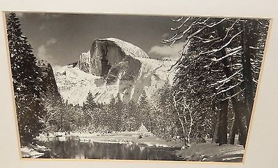HALF DOME BLACK AND WHITE  PHOTOGRAPHY BY ANSEL ADAMS