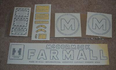 Mccormick Farmall Model M Decal Set