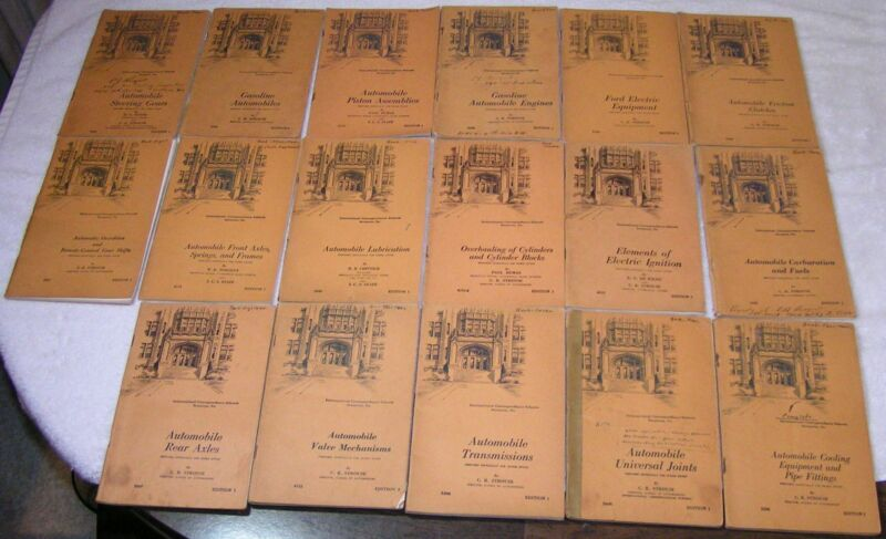 17 Automotive Books Booklets 1947 International Correspondence Schools Strouse