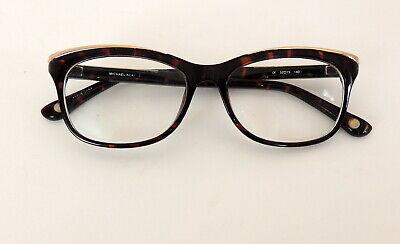 Michael Kors Womens Eyeglasses Perscription Tortise Shell Brown Gold 52-15 (Perscription Glasses)