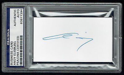 Andy Elisburg Signed Autograph Auto Miami Heat Gm Business Card Psa Slabbed