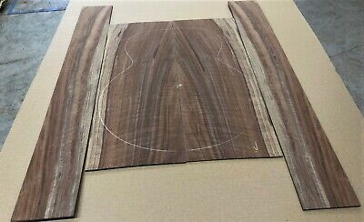 Nice Curly Claro Walnut Jumbo acoustic guitar back and side set #42320-6