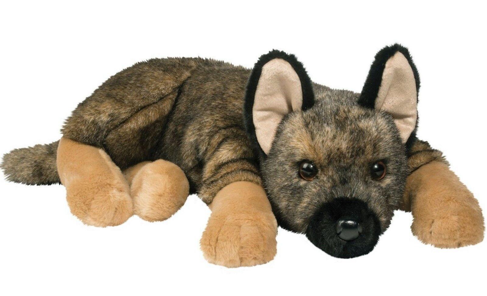 "Douglas Mya GERMAN SHEPHERD DOG 20"" Lying Floppy Plush Stuff"