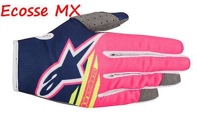 2018 Alpinestars Radar Vuelo Guantes XL Azul Rosa Motocross Enduro MTB