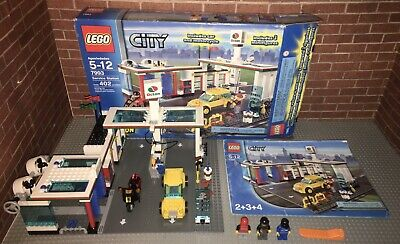 Lego 7993 City Service Station Set Minifigures Manuals Box