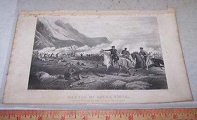 1897 Illustration - BATTLE OF BUENA VISTA