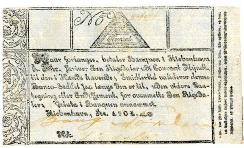 Denmark ... P-A28 ... 1 Rigsdaler Courent ... 1802 ... Ch*VF*.