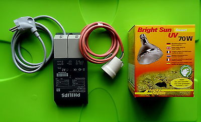 Lucky Reptile Bright Sun UV Desert 70 Watt Set + EVG + E27 Fassung