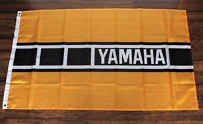 Yamaha Speedblock Banner Flag Racing MotoGP Motorcycle Biker  Yellow Black New