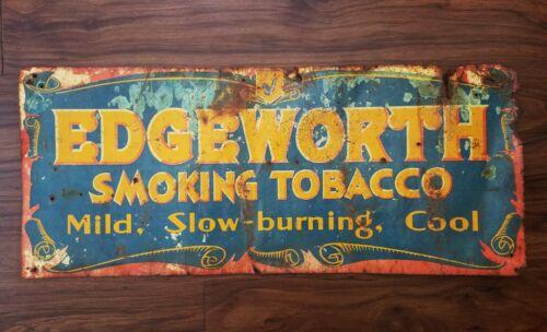 Edgeworth Smoking Tobacco Tin Sign Original Vintage Pipe Cigar 27.5 x 11.5