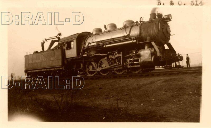9C687 RP 1934 BALTIMORE & OHIO RAILROAD 0-8-0 LOCOMOTIVE #614 BAY VIEW BALTIMORE
