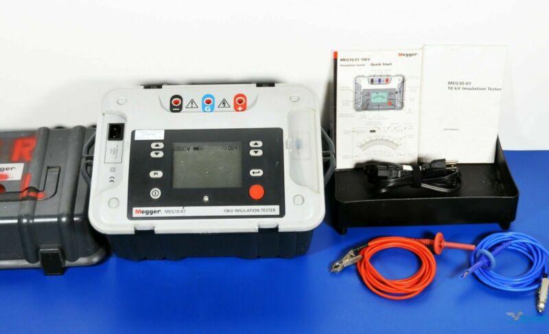 Megger MEG10-01 10kV Insulation Tester Megohmmeter - NIST Calibrated