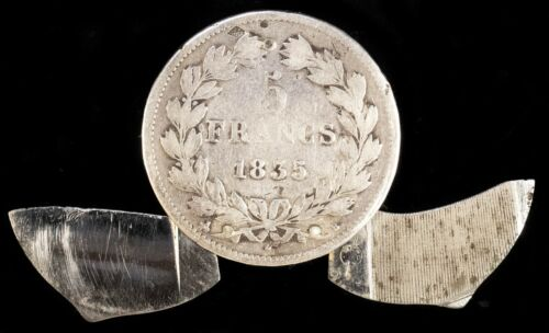 Eloi Pernet 1835 French 5 Francs Coin Knife