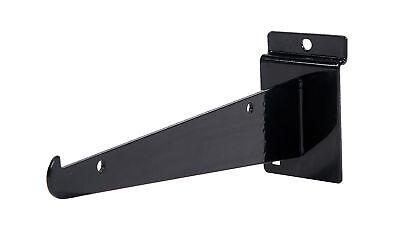 25 Slatwall 8 Knife Shelf Brackets Black Lip Retail Shelving Display Bracket