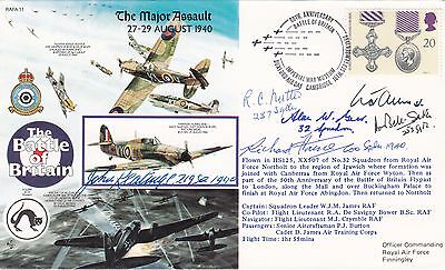 Rare RAFA11  50th Anniv Battle of Britain Major Assault Signed 5 Battle of Brita