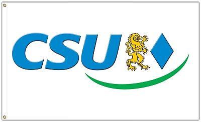 Christliche Partei (CSU Fahne 150 x 90 cm Partei Flagge Christlich Soziale Union Bayern Gold Löwe)