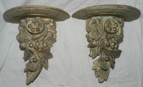 """Pair of Decorative Resin Wall Shelves, 13.25"""" Wide X 12"""" Tall"""