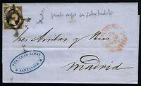 España 6 Carta Santander A Madrid Mayo 1851 - santander - ebay.es