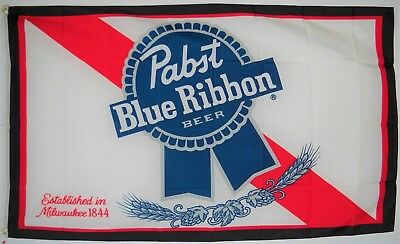 "HUGE 3'x5' PABST BEER FLAG, 36""x60"" cloth poster banner FLAG"