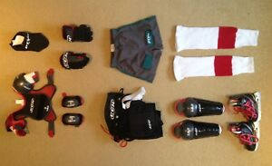 CCM Child's Hockey Kit (Small) + Skates (Youth10D). Used ONCE.