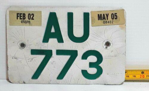 BERMUDA - 2005 large motorcycle license plate - nice all original used example