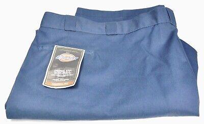 DICKIES 874 ORIGINAL MENS POPLIN WORK UNIFORM PANTS 60UU BLUE     Poplin Work Pants