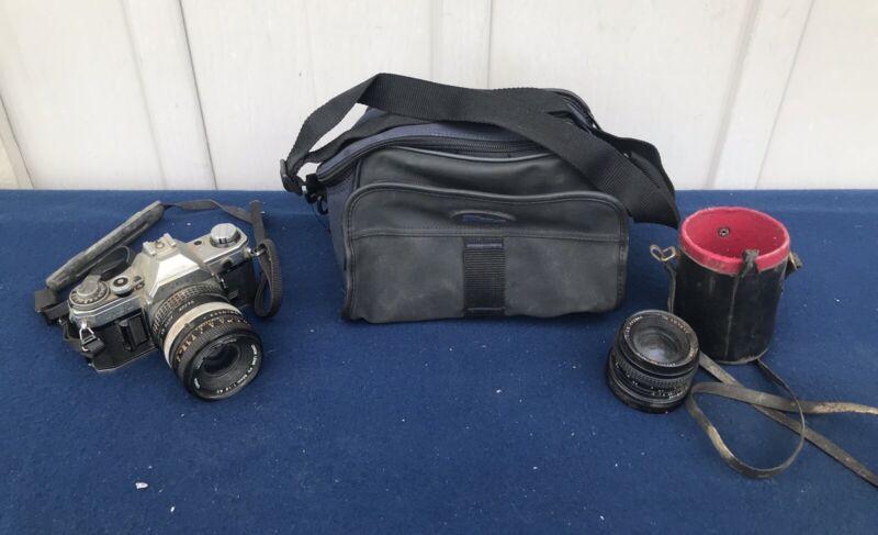 Canon AE-1  Program Camera, Case, And Lens