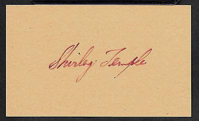 Shirley Temple Autograph Reprint On Genuine Original Period 1930s 3x5 Card
