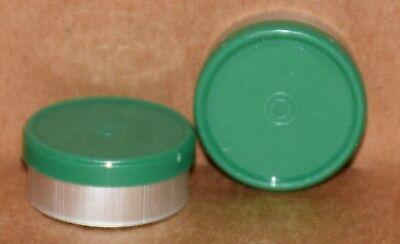 20mm Aluminum Plain Flip Top Serum Vial Seals Green - Qty. 100