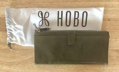 Hobo International Womens Wallet (Nwt Women's Hobo International Leather Wallet, Taylor, Willow (Olive Green))
