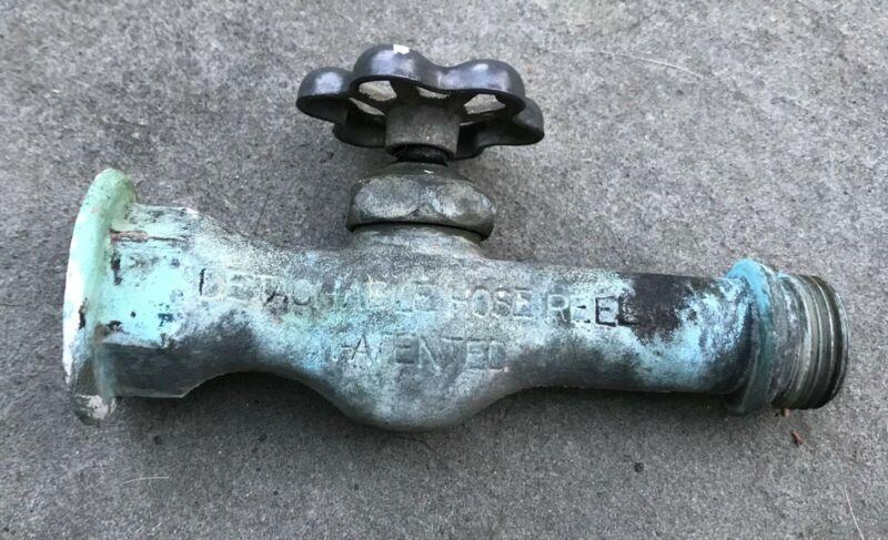 Vintage Specialty MFG Solid Brass Detachable Hose Reel Spigot Faucet
