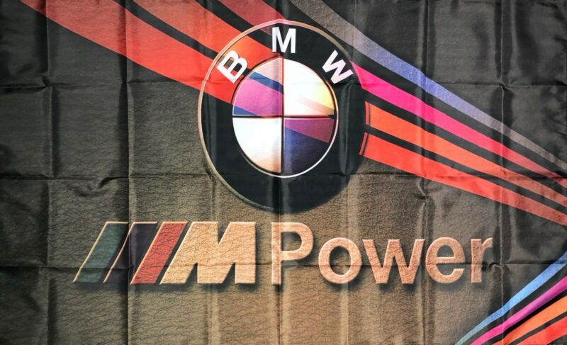 BMW M Series Logo Car Flag 3x5 ft Racing Banner M3 M4 M5 M6 M-Power Man-Cave