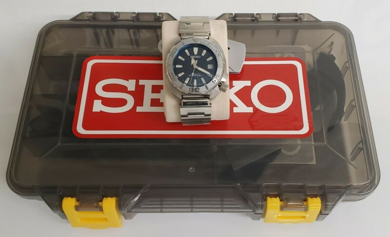 seiko divers 6105 mod with geniune seiko parts (free mod parts case) w/ extras