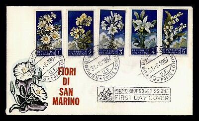 DR WHO 1957 SAN MARINO FDC FLOWERS  C242881